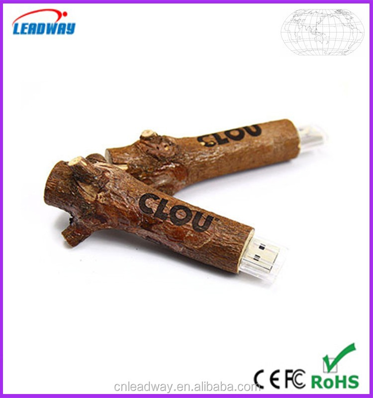 2016 new usb gift eco-friendly usb,tree branch shape wooden usb flash drive,factory price usb flash drive 8gb