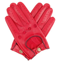 Leather Driving Glove For Moto type Sports Gloves Custom Size Logo and Design Full Finger Riding Fitness