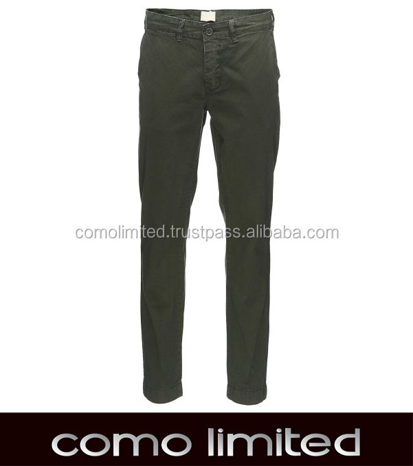 Garment Dyed Chinos Pants for Man