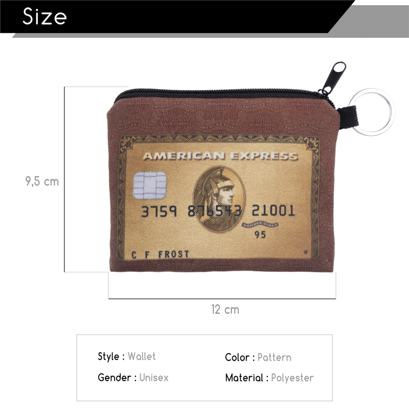 FactorytoShop (UK) Stylish, Cute American Express Design Print Square Purse/ Clutch Wallet