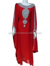 New And recently manufactured women party wear summer use antique kaftan./Best Embroidered design decent women summer use caftan