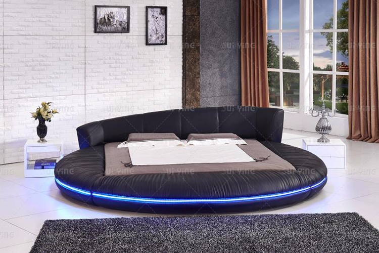 a0441 latest modern bed designs with led light and