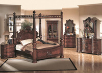 Solid Wood King Four Poster Frame Bed