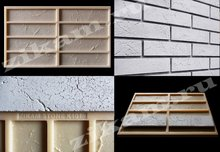 Silicone moulds for fabrication of decorative thin bricks made of gypsum (cement). Over 150 textures of cultured stone!