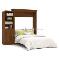 Pure Wooden Attractive Design Storage Wall Bed For Sale