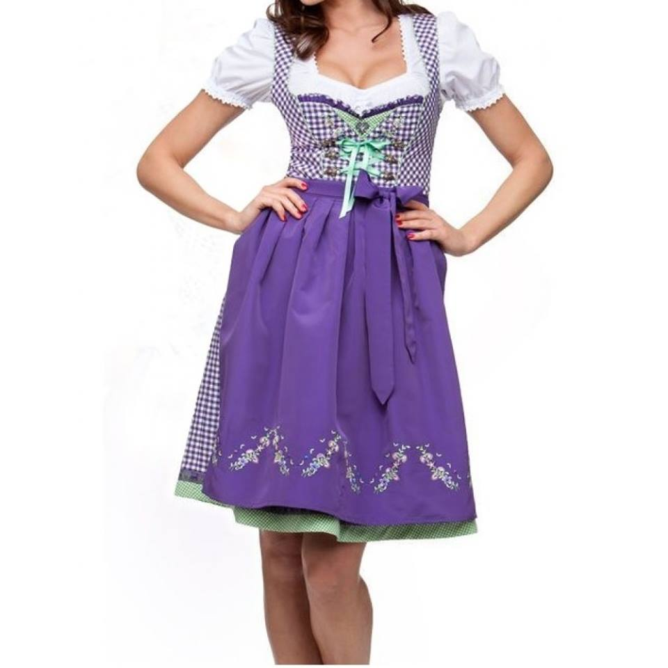 Custom Mini Dirndl with blouse & apron / Trachten Dirndl Dress / Traditional Bavarian Dirndl (trachten dirndl