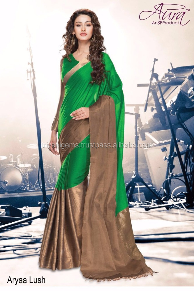EXCLUSIVELY DESIGNER SILK COTTON SAREES WITH LONG BORDER WITH WHOLESALE PRICE
