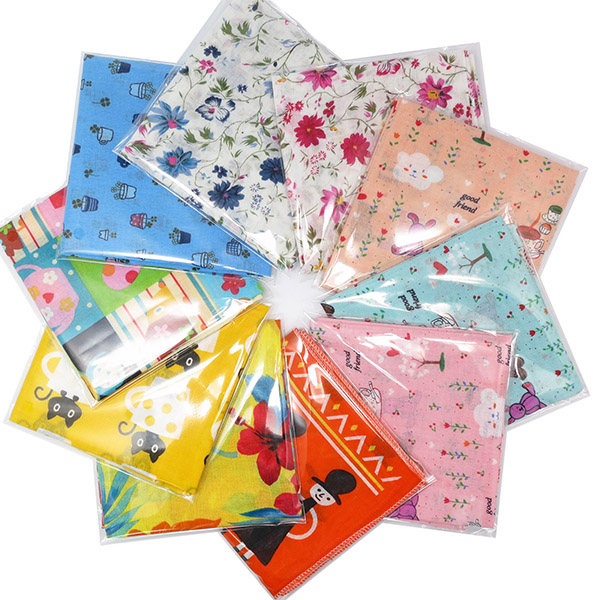 Leevo 100% Gauze Cotton baby bandana ladies hankies