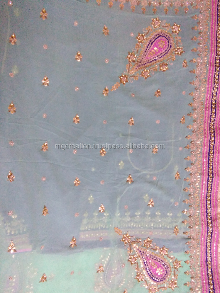 Indian ethnic wear heavy work saree hand work saree with heavy hand work blouse