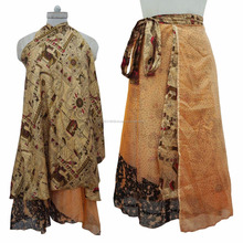 "Reversible Dress Garden Silk Magic Wrap Skirt Plus Size Long 36"" Sari Around skirts dress beach wear women Wraparound Wholesale"