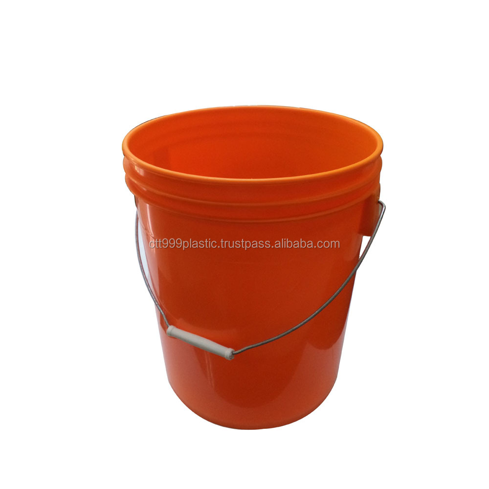 18L or 5 gallon plastic pail for lubricant, paint, other container usage with metal handle