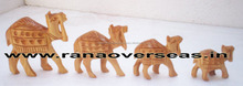Wooden Decorative Carving Camles, Christmas, Table Top and Home Decorative Wooden Figurines