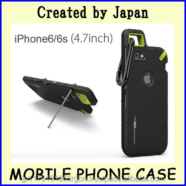 Durable and Functional cellphone case for iphone 6s , 6 with hook , stand created by Japan