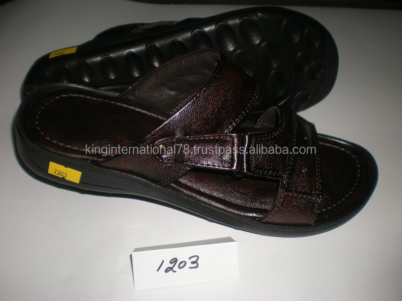 leather men fancy sandals