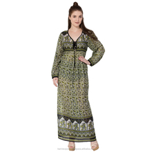jaipuri made maxi Womans and kids dress brown flower LATEST FASHION DESIGN PRINT LONG MAXI DRESSES