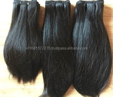 Best selling raw hair 100% natural color virgin straight Brazilian hair soft and silk weft human hair