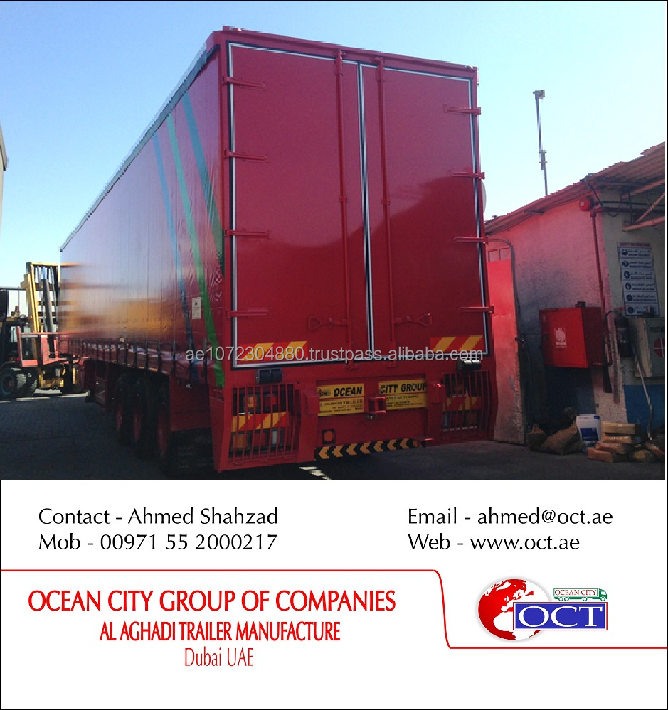 Recondition 3 Axles Curtain Side Trailer in UAE with high quality 2016