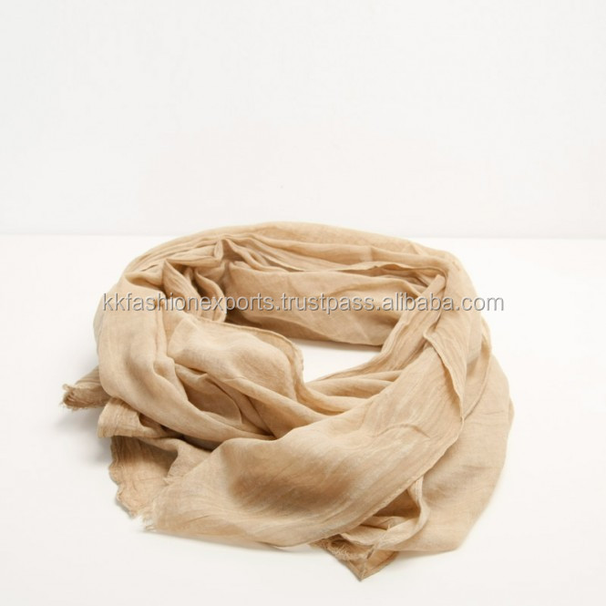 High quality custom design Stone Wash cotton scarves