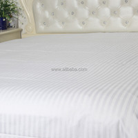 WEISDIN new products chinese imports wholesale polyester cotton white plain dyed 1cm stripe fancy satin bed sheets