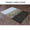 Royal Viscose Leather Carpets Shaggy Rugs , Leather Rugs
