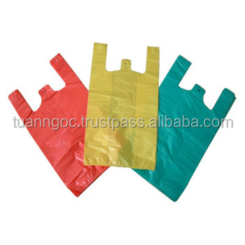 HDPE/LDPE shopping bag high quality/ Exporting T-shirt plastic bag cheap price