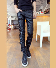 best selling high quality men sexy leather pants customized,Motorbike Leather Pants