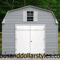 Wholesale reliable 72 in. x 80 in. Garden Shed White Left-Hand Outswing Primed Steel Prehung Front Door.