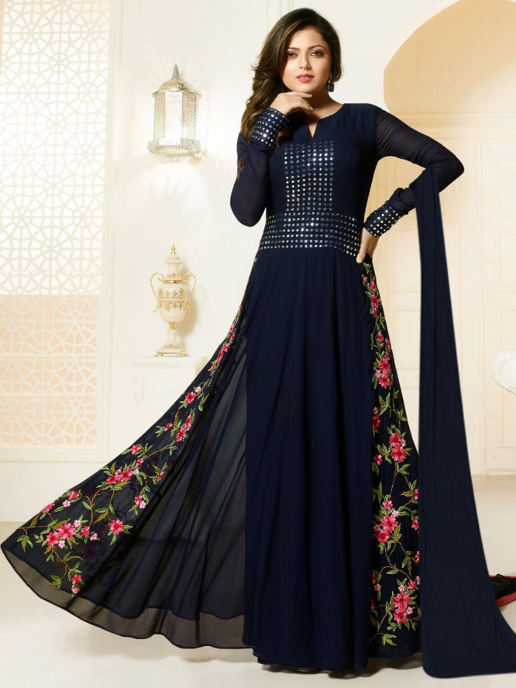 Georgette Anarkali Dress Online Shopping Cash On Delivery