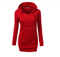 -Hoodies & Sweatshirts from Women's long sleeve non removable hood pink TWO HAND POCKETS.