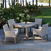 Weathered Gray Garden Teak Dining Table