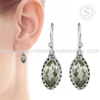 impressive Green Amethyst Gemstone Earring With 925 Sterling Silver Jewelry Supplier Wholesale Silver Jewelry India