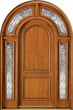 Door Arched Wood Exterior Door - Surround