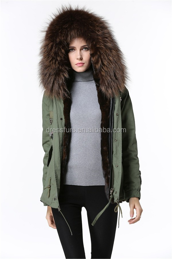 wholesale men winter coat fox coat raccoon fur hood trim by fast shipping