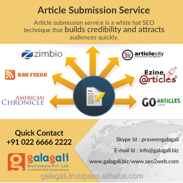 Article Submission Service - www.seo2web.com