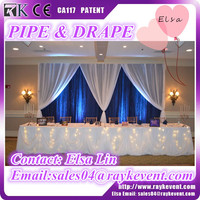 Adjustable portable events pipe and drape backdrop pipe and drape