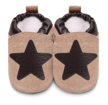 New Best Quality Ever Soft Sole Upper Star Style Leather Baby Shoes