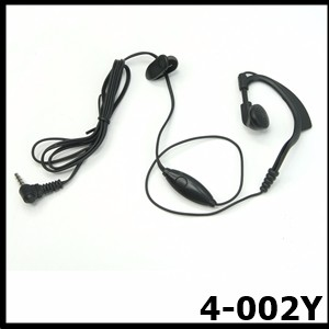 One wire Earhook Push to talk transceivers earphone for T5 TH-2R