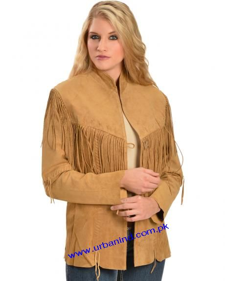 439 Ladies Tan Western Fringe Coat/Ladies Tan Indian Coat/Ladies Tan American Coat 439
