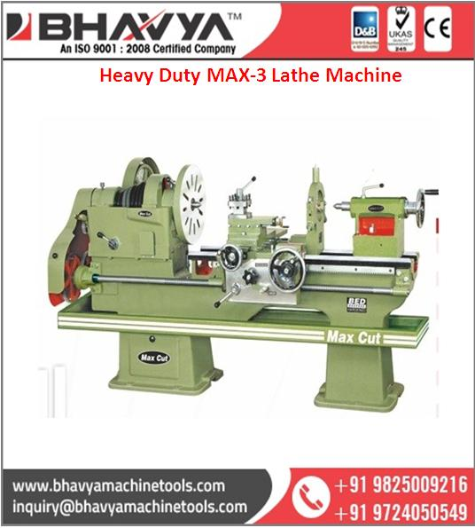 Universal All Geared heavy duty V-Belt MAX 3 Lathe Machine wholesale supplier