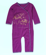 Infant wrap play suit with glitter printed graphic
