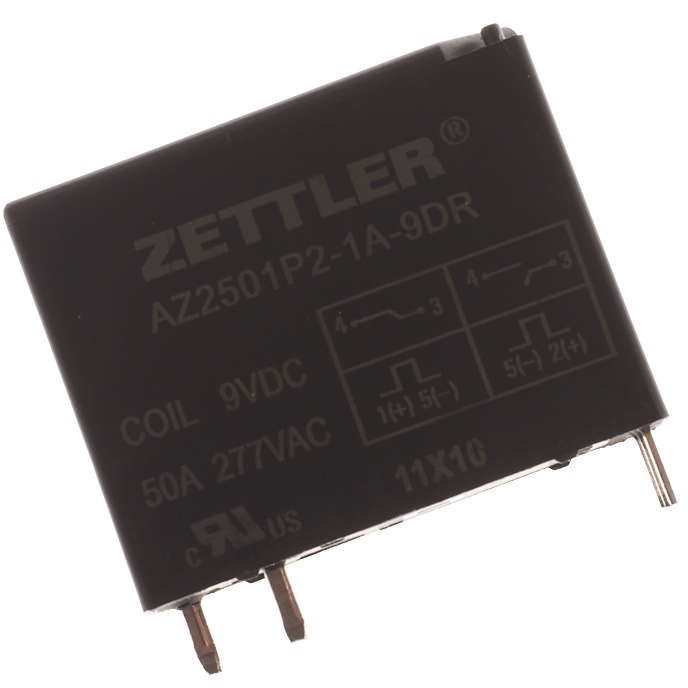 Zettler AZ2501P2-1A-9DR 50 AMP LATCHING POWER RELAY