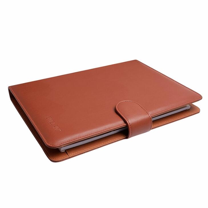 Promotional gift A4, A5 PU leather notebook folder with calculator