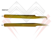 Eyelash Tweezers in NEW Exciting Gold Colors, Beautiful Bright Color Coated Eyelash Extension Tweezers MARIG