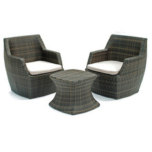 Best selling Round outdoor wicker patio furniture sofa set with coffee table.
