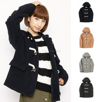 Various types of best selling girls long coat with 10 color variation