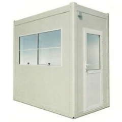 Prefabricated guard hut for 2 men usage