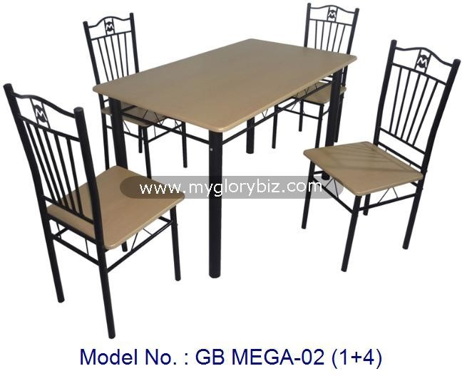 New Special Designs Metal Chairs With Table 1+4 Dining Sets For Home Indoor Furniture In High Quality And Cheap Price