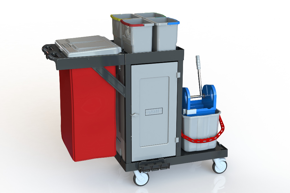 Cleaning Trolley Commercial Design Housekeeping,Hotel Cleaning Trolley Hospital Code: C 471 D TURKEY