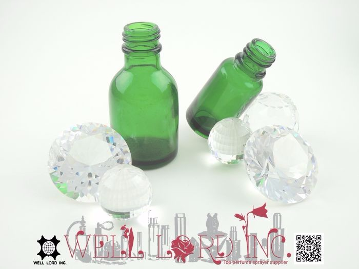 18ml fresh green design portable size arabian attar perfume bottle