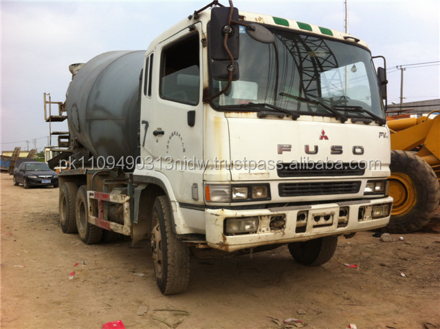 Used FUSO Concrete Mixers, Japan Used FUSO Mitsubishi Concrete Mixer